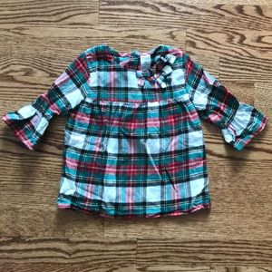 Carter's 3T Christmas Holiday Plaid Top